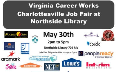 Come visit us at the The Virginia Career Works Charlottesville Job Fair!